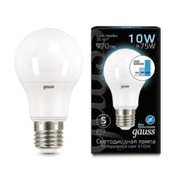 Лампа Gauss LED A60 10W E27 920lm 4100K