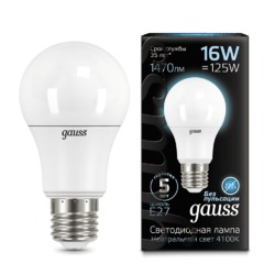 Лампа Gauss LED A60 16W E27 1470lm 4100K