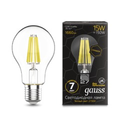 Лампа Gauss LED Filament Graphene A60 E27 15W 1660lm 2700К