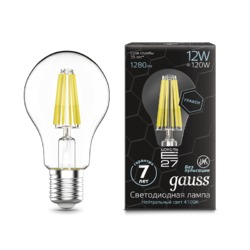Лампа Gauss LED Filament Graphene A60 E27 12W 1280lm 4100К